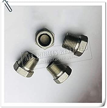 "1//4/"" Stainless Steel Outer Hex Thread Socket Pipe Plug Fitting 3//4 NPT Male"
