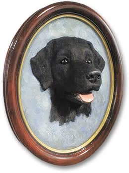 Conversation Concepts Labrador Retriever Black Portrait Set of 6