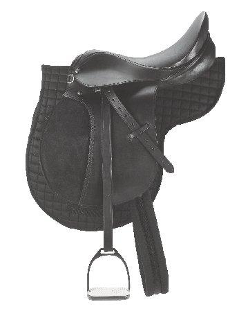 Ponysattel 16 Zoll Ledersattel Pony-Leder-Sattel