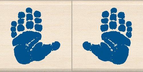 EK Success Inkadinkado Baby Hand Wood Stamp Set for Card Decorating, 2pc, 1.5