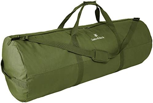 Extra Large Duffle Bag -Green 56 x22 -348.8 L -Canvas Military and Army Cargo Style Duffel Tote for Men and Women College Student, Backpacking, X-Large Travel and Storage Shoulder Bag