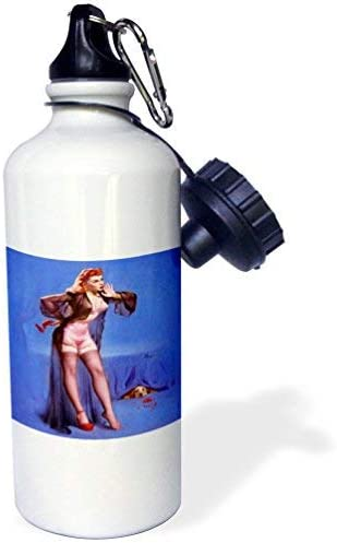 Angela G Print Of Elvgren Pinup With Dog Hiding Sports Water Bottle Multicolor 21 Oz Amazon Co Uk Sports Outdoors
