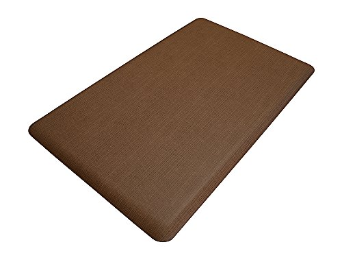 NewLife by GelPro Designer Comfort Mat, 18 by 30-Inch, Grasscloth Java
