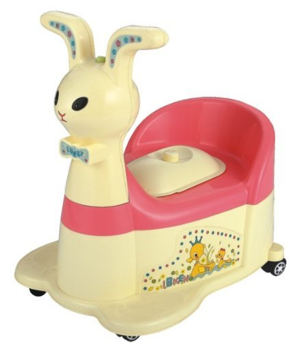 Bunny Musical Riding Potty Trainer - Yellow
