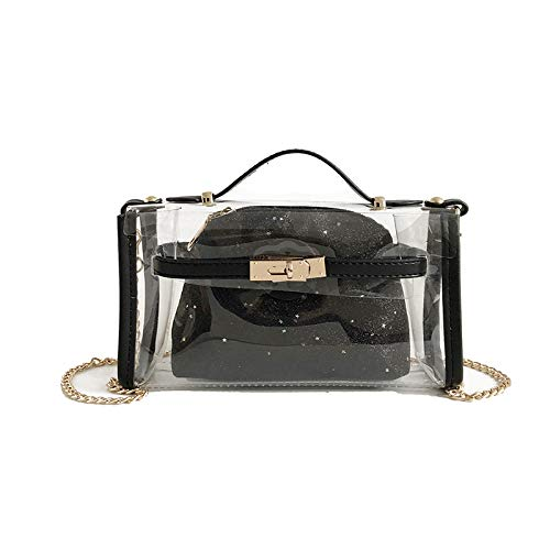 Silver A Jelly Beach Tracolla Trasparente Black Kervinzhang Candy Donna color Di Borsa Moda qTRAa