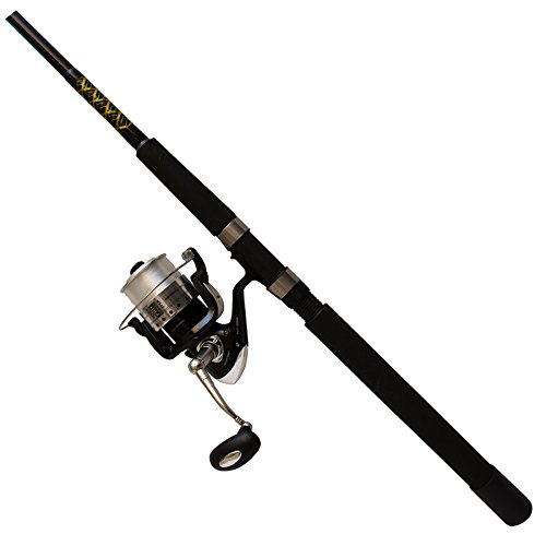 Hunter Roddy (Master Fishing Tackle Master Fishing Roddy Hunter Saltwater Spinning Combo with 7 Bearing Reel)