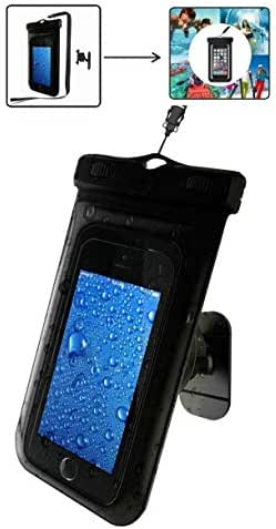 Shower Phone Holder Mount Universal Waterproof Phone Case & Wall Dock for Men Women Touchscreen Sensitive Bath Phone Stand for You tube, Baby Monitor, Music Listening, Answer Phone Calls in the Shower