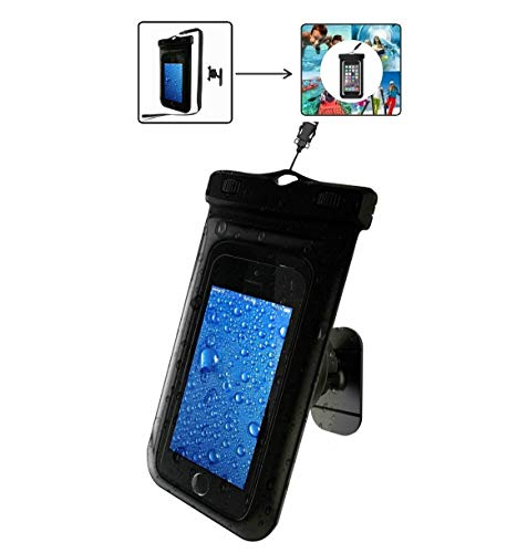 (Shower Phone Holder Mount Universal Waterproof Phone Case & Wall Dock for Men Women Touchscreen Sensitive Bath Phone Stand for You tube, Baby Monitor, Music Listening, Answer Phone Calls in the Shower)