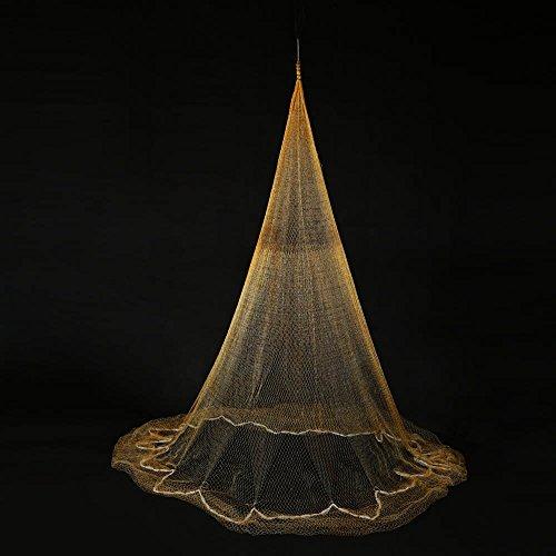 Mesh Cast - Nylon Monofilament Gill Fishing Net for Hand Casting 3.2 x 2m Folding Fish Net Baits Cast Mesh Trap
