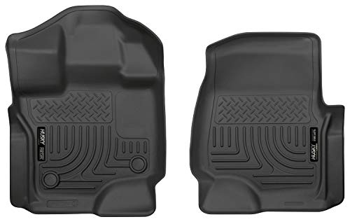 (Husky Liners 18361 Black Weatherbeater Front Floor Liners Fits 2015-2019 Ford F-150 SuperCrew Cab, 2015-2019 Ford F-150 SuperCab )
