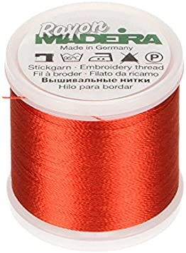 1221 Madeira Rayon Embroidery Thread 1100yd Spool BROWN ORANGE Color