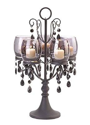 Midnight Elegance Candelabra Votive Candleholder Centerpiece Decor,new