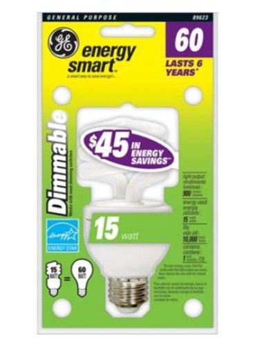 15 Watt Dimmable CFL Twist ENERGY STAR Light Bulb