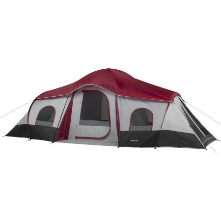 3 Room Camping Tent - Ozark Trail 10-Person 3-Room XL Family Cabin Tent