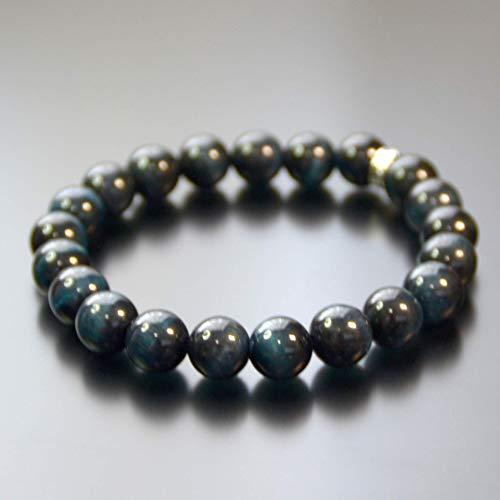 Revitalizing Energy High Quality Natural Multi Color Gemstone Beaded Stretch Unisex Bracelet Adjustable Size FORZIANI Men Women 8mm Bloodstone Bead Bracelet Made in USA