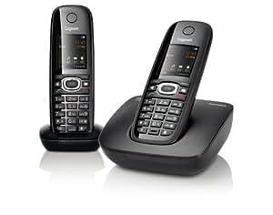 Gigaset C590 Duo - Teléfono (DECT, Escritorio, Negro, AAA, 65536 colours, 128 x 160 Pixeles)