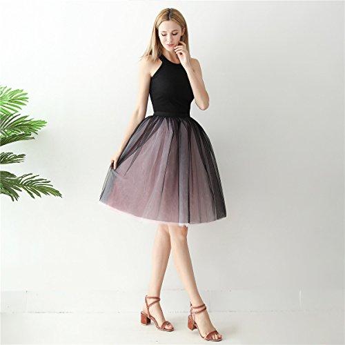Fte Noir Party de De Tulle Femmes A Rose Tutu Petticoat Vintage Rockabilly Mi Dress Robe Ligne Jupon ShowYeu Mollet Jupe Balle Bal gFf6zxq6n