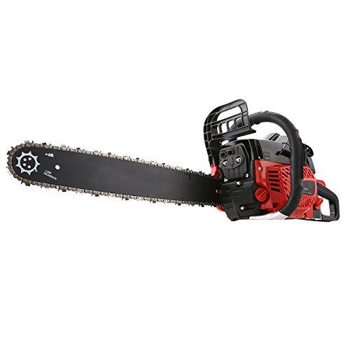 Meditool 52CC Chainsaw, 3.5HP Gas Chainsaw, Gas Powered Chainsaw Handed Petrol Chainsaw with Smart Start Super Air Filter System and Automatic Oiling and Tool Kit