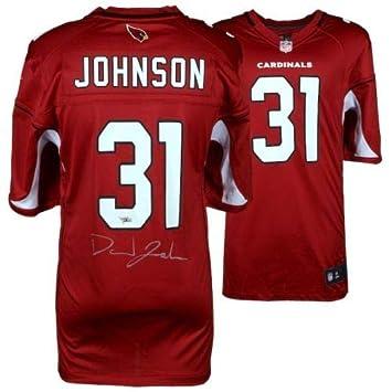 53cab0de5ca9 Amazon.com  DAVID JOHNSON Autographed Arizona Cardinals Red Nike Game Jersey  FANATICS  Sports Collectibles