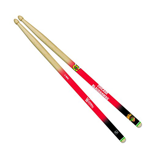 Woodrow Guitar by The Sports Vault NHL Chicago Blackhawks Drum Sticks -