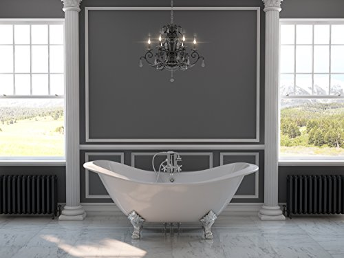 Why Should You Buy 71 Cast Iron Double Ended Slipper Tub with 7 Faucet Hole Drillings & Chrome Fee...