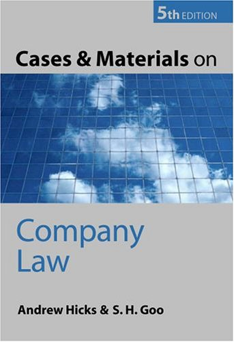 Download Cases and Materials on Company Law pdf epub