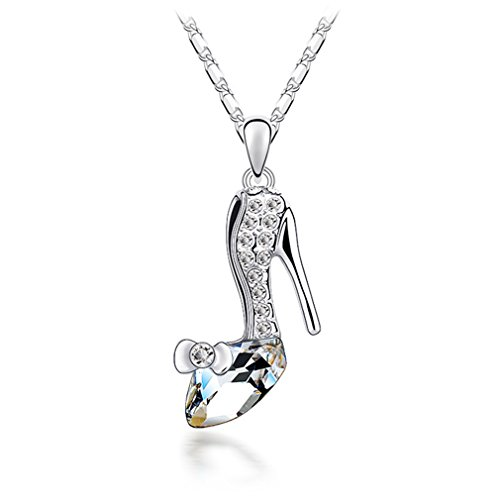 Austrian Crystal Necklace Cinderella And Slipper White
