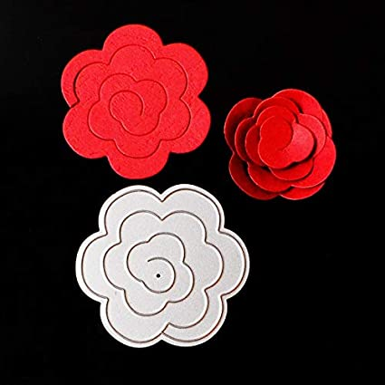 amazon com best quality cutting dies rose flower metal cutting