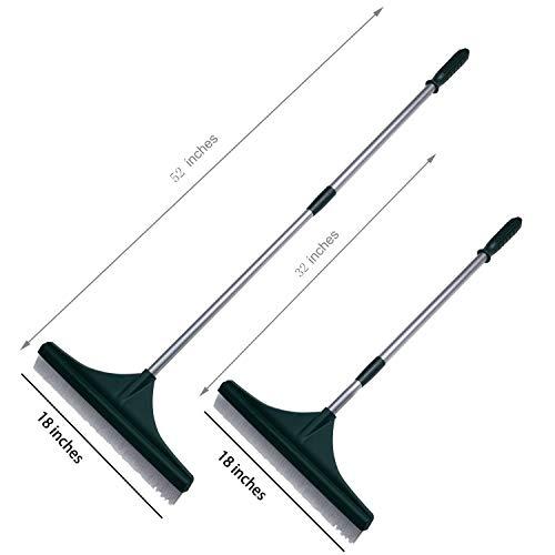 ORIENTOOLS Turf Rake, Ergonomic Adjustable Lightweight Steel Handle, Plastic Head PA brush, 32 to 52 inches, Carpet Rake by ORIENTOOLS (Image #1)