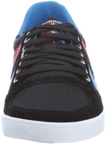 hummel HUMMEL SLIMMER STADIL LOW 63-112-2639 Unisex-Erwachsene Sneaker Schwarz (BLACK/BLUE/RED/GUM KH 2639)