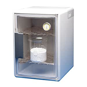"""Bel-Art Scienceware 420610000 Clear Plastic Dry-Keeper Plus Auto-Desiccator Cabinet with 2 Shelves, 12"""" Length x 13-7/8"""" Width x 17"""" Height"""