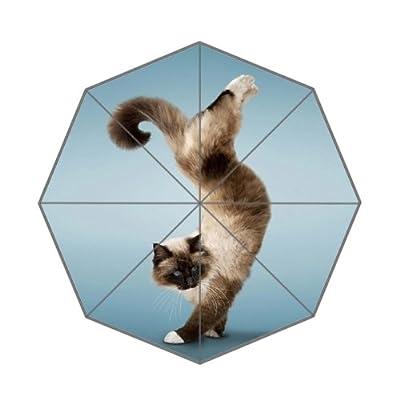 Parapluie personnalisé avec Yoga Motif chat