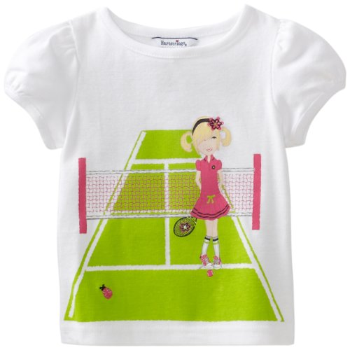 Hartstrings Baby Girls' Cotton Short Sleeve Printed Tee