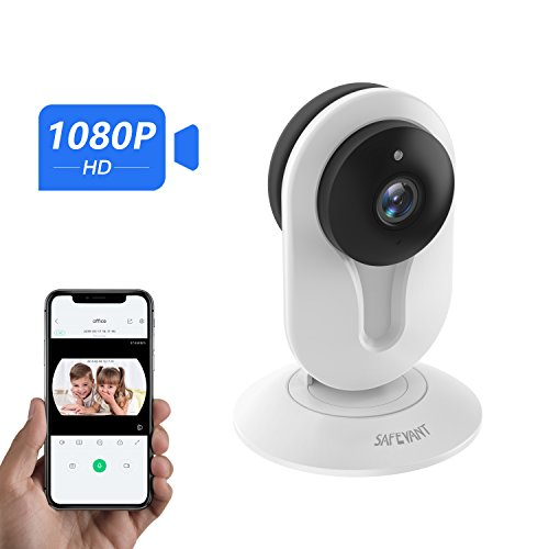 Safevant Wireless 1080P Security Camera, WiFi Home Surveillance IP Camera for Baby/Elder/Pet/Nanny Monitor,Two-Way Audio & Night Vision, Cloud Service Available