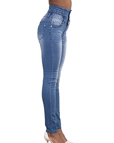 Skinny Skinny in Lunghi Leggings Vita Denim Jeans Azzurro A Shaoyao Donna Stretch Pantaloni Chiaro Alta Jeans Matita Elastico Pantaloni YPRWcZzS