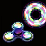 Fidget Force - LED Hand Spinner - A Cosmic Way to Keep Fidgety Hands at Play - Flashes for 20 secs - ADHD, Anxiety, Autism & Stress Reducer -Fun Fidget Spinner Toys for Adult - 9 Free UFO Stickers