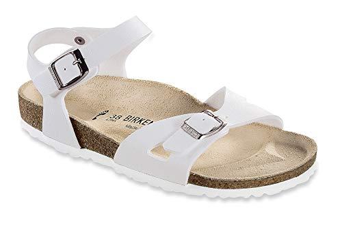 Birkenstock Womens Rio White Synthetic Sandals 36 EU]()