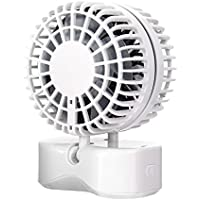 SL&LFJ Mini Usb 3 Speed Air Conditioner Fan,Summer Cooling Compact Portable Small Desktop Fan Cooling Unit For Office,Dorm,Nightstand(White)