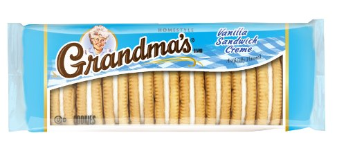 Grandma's Sandwich Creme Cookies, Vanilla, 3.03 Ounce (Pack of 18)