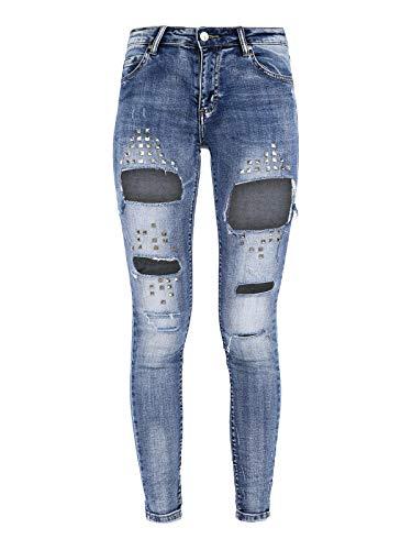 Solada Strappati Jeans Strappati Solada Borchie Borchie Con Jeans Solada Con rwC6arqfx