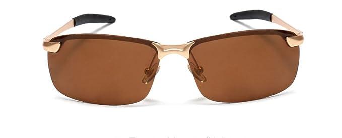 GAMT Classic Semi-rimless Polarized Sport Sunglasses Metal Frame Retro Style