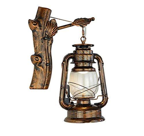 (Lightretro Kerosene Lamp Bronze Old Bar Restaurant Cafe Hallway Lamp Wrought Iron Twig Leaves Horse Lantern)
