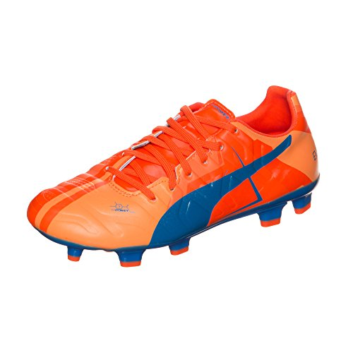 Puma evoPOWER 3.2 FG Unisex-Kinder Fußballschuhe orange clown fish-electric blue lemonade