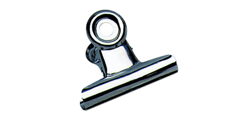 Charles Leonard Spring Clips with Hanging Hole, 2-1/2 Inch, Silver, 12-Pack (68250)