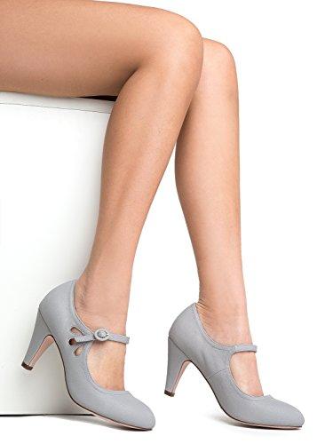 M US Pixie 5 5 Grey Heel B Kitten PU nqwO0vx1q
