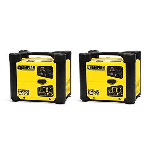 Champion 2000 Watt Quiet Portable Camping Gasoline Power Inv