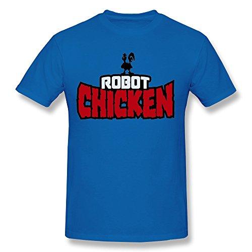 BoAlyn Men's Robot Chicken Logo T Shirts XX-Large RoyalBlue