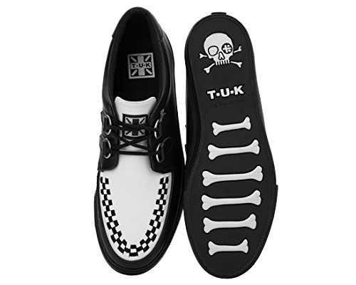 Tuk A9180 Unisex Zwart-wit Vlk Creeper Sneaker Met Zwarte Zool