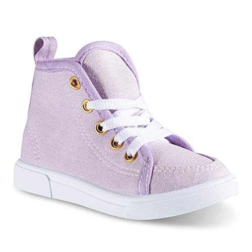 (Chillipop Fashion High-Top Canvas Sneakers - for Girls Boys Youth, Toddlers & Kids)