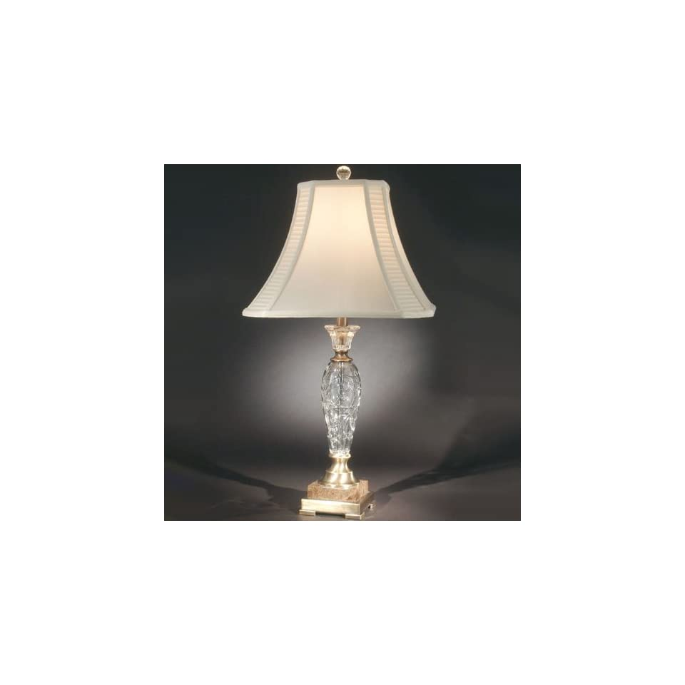 Dale Tiffany GT70211 Andria 1 Light Table Lamp in Antique Brass Mahogany